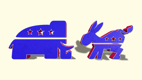 Democrat Donkey and Republican Elephant Footage