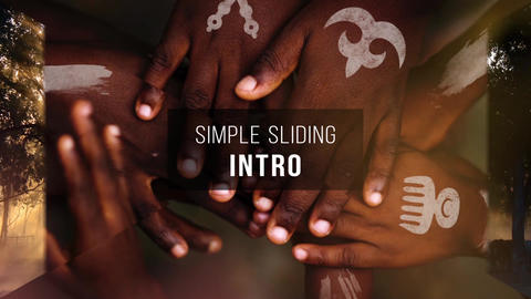 Simple Sliding Intro After Effects Template