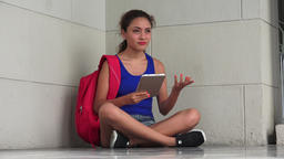 Confused College Student With Tablet Live Action
