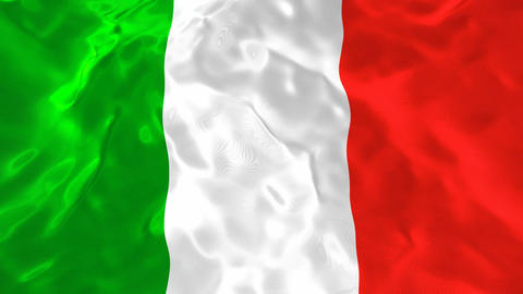 National flag of Italy 3D looping animation Animation