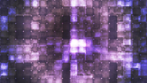 Twinkling Hi-Tech Cubic Diamond Light Patterns, Purple, Abstract, Loopable, 4K Animation