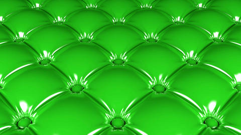 Quilted green latex pattern looping 3D animation Animation