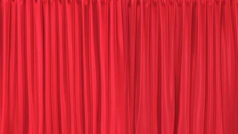 Red textured curtains realistic 3D animation with alpha matte Animation