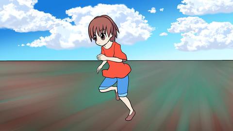 走る少年 on set 動画素材, ムービー映像素材