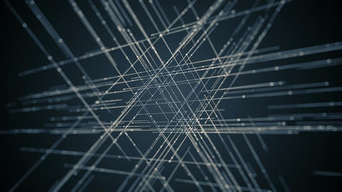 Abstract Technological Lines Background Animation