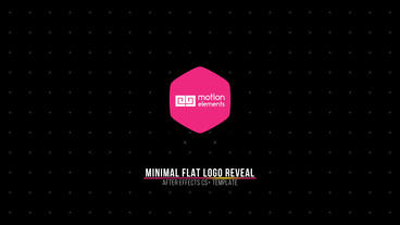 Minimal Flat Logo Reveal After Effects Template