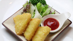 fried cheese with tomato catsup ライブ動画