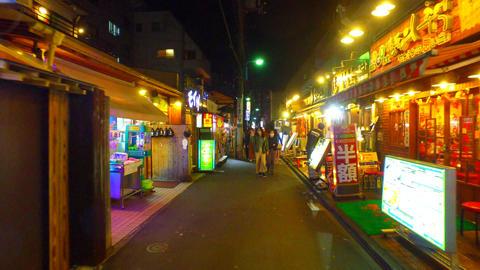 Korean town in Shinokubo Tokyo Japan Filmmaterial