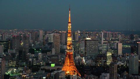 Japan Tokyo tower night ライブ動画
