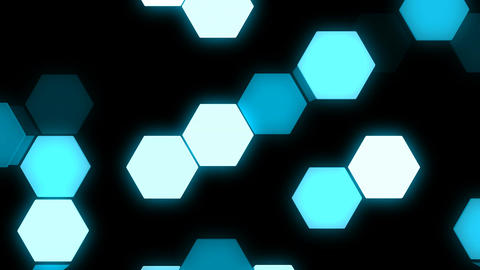 LED Light Hexagon Block illumination Wall Animation