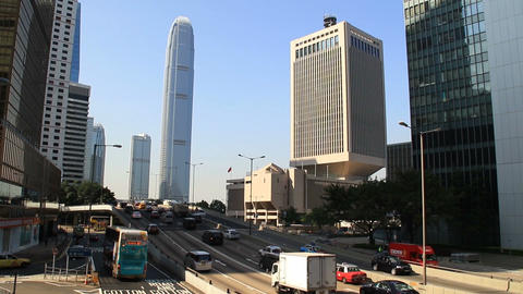 View of highway interchange with traffic Live影片