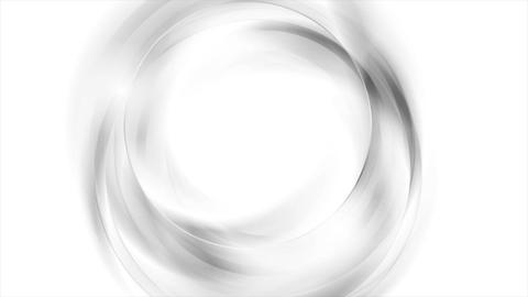 Abstract grey and white wavy circles video animation Animation
