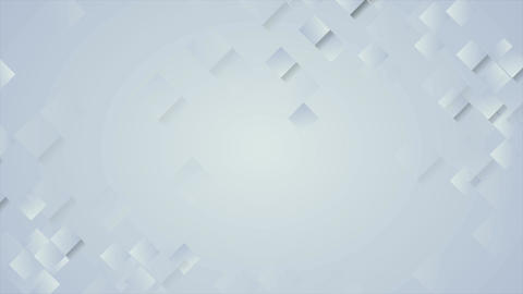 Abstract tech blue geometric squares video animation Animation