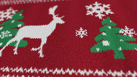Christmas sweater with a deer Animation