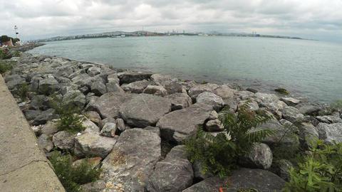 Embankment at the Sea of Marmara. Istanbul. Turkey. 4K Footage