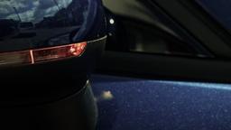 Car door mirror indicator flashing HD stock footage Footage