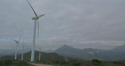 4K, Wind Energy Plantation In Spain Footage