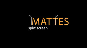 Split Screen Mattes After Effects Template