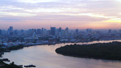 Video of Bangkok, Thailand capital city of South East Asia view from top at sunr Footage