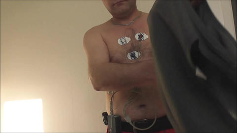 Male patient wears Footage
