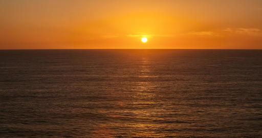 Sunset Ocean Timelapse Footage