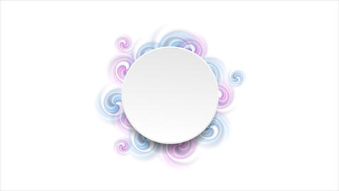 Blank circle and bright swirl shapes video animation Animation