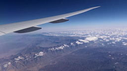 The Flight Of The Aircraft Over The Arabian Peninsula stock footage