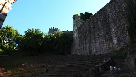 The fortress of Rumeli Hisari in Istanbul. Turkey. 4K Footage