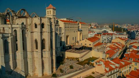 Convento do Carmo, Lisbon, Portugal Footage