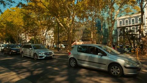 Avenida da Liberdade, Lisbon, Portugal Footage