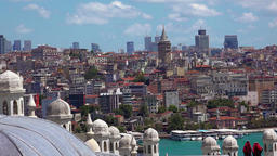 Old Istanbul. Top view. Turkey. 4K Footage
