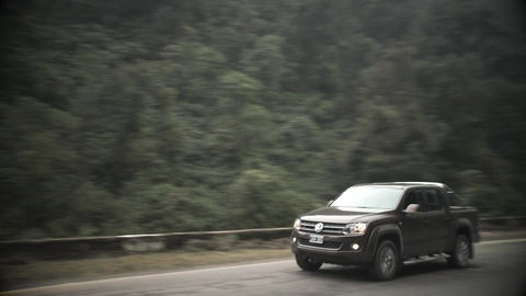 4x4 passing through Forest Route Live Action
