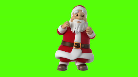 Dancing Santa Claus on a green background Animation