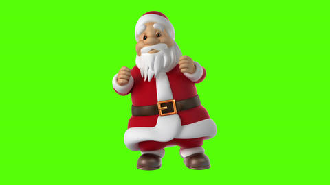 Dancing Santa Claus on a green background Stock Video Footage