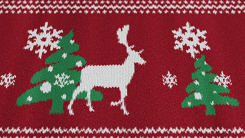 Christmas sweater with a deer2 Videos animados