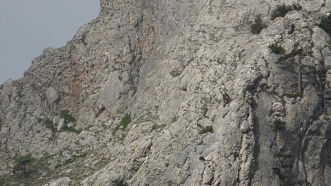 Climber on a rock Live Action