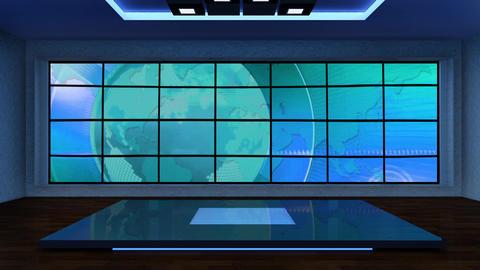 News TV Studio Set 296- Virtual Background Loop ライブ動画