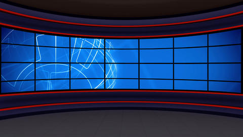 News TV Studio Set 297- Virtual Background Loop ライブ動画
