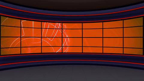 News TV Studio Set 299- Virtual Background Loop ライブ動画
