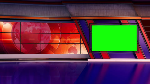 News TV Studio Set 303- Virtual Background Loop ライブ動画
