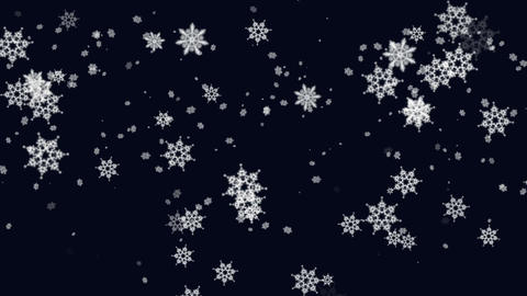 Snow falling from the night sky Animation
