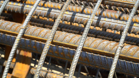 The Metal Frame Of The Reinforcing Bars. 0