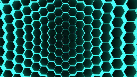 hexagons background loop corporate Animación