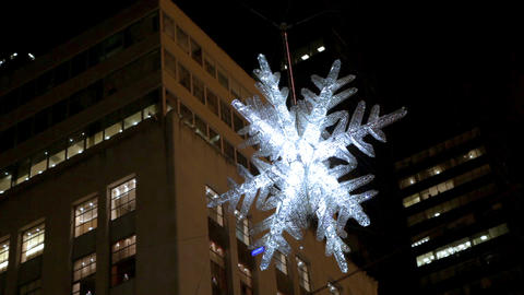 Sparkling light up snowflake Footage