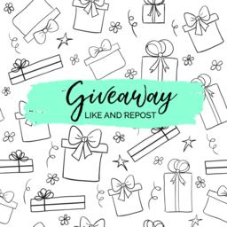 Giveaway minimal card for social media marketing Vector