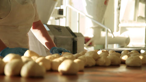 Bakers in the bakery Footage