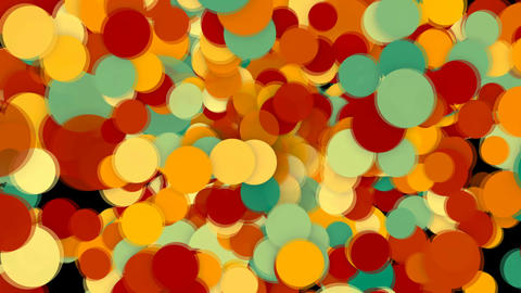 Abstract background with colorful circles Live Action