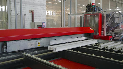 Cutting of plastic profile on machine tool Footage