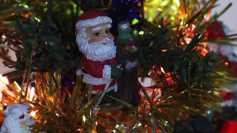 Santa Claus in Christmas tree Footage