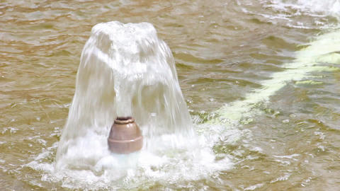 Small stream of water in the fountain Footage
